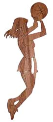 wood craft basketball girl