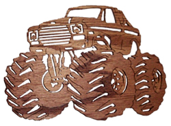 wood craft monster truck